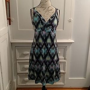 Tehama blurry print dress Sz L